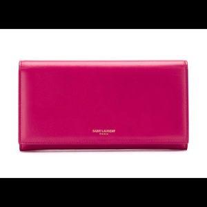 YSL (Saint Laurent) Pink Leather Wallet